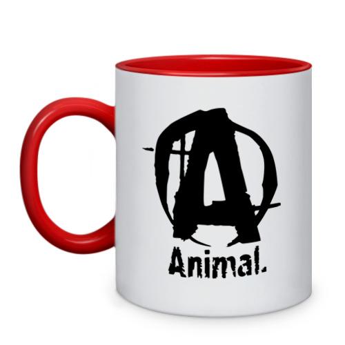 "Кружка двухцветная ""Animal 2"" - 1"