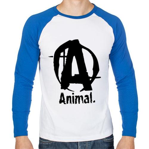 """Мужская футболка-реглан с длинным рукавом """"Animal 2"""" - 1"""