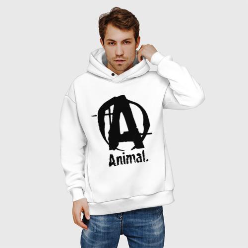 Мужское худи Oversize хлопок Animal 2 Фото 01