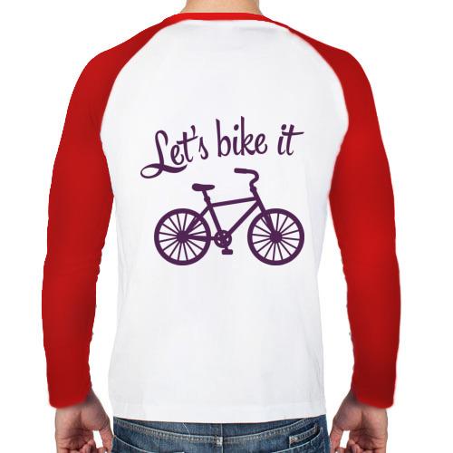 Мужской лонгслив реглан  Фото 02, Let's bike it