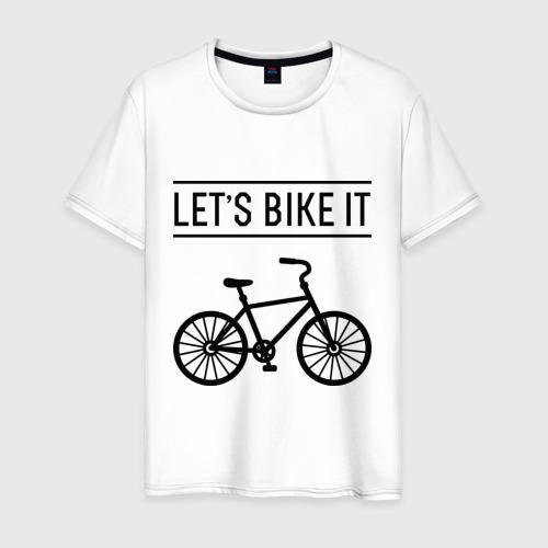 Мужская футболка хлопок Let's bike it Фото 01