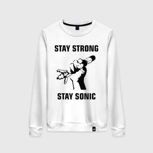 Женский свитшот хлопок Doctor Who : Stay Strong Stay Sonic Фото 01