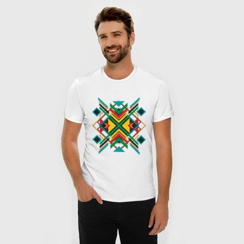 Мужская футболка премиум  Фото 03, Triangles and squares