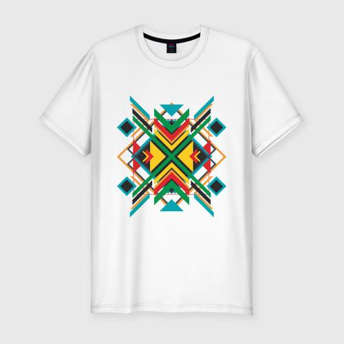 Мужская футболка премиум  Фото 01, Triangles and squares