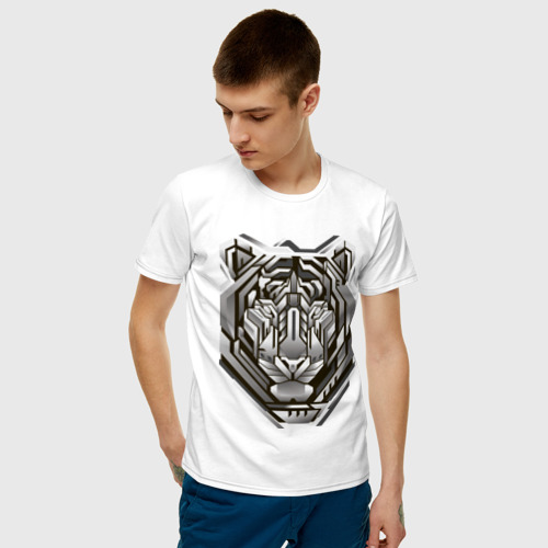 Мужская футболка хлопок Geometric tiger Фото 01