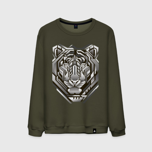 Мужской свитшот хлопок Geometric tiger Фото 01
