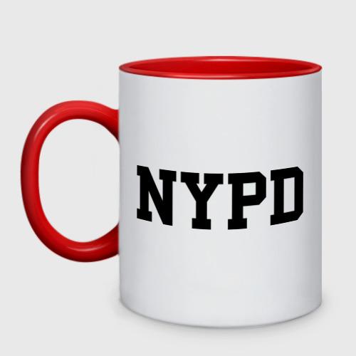 Кружка двухцветная NYPD