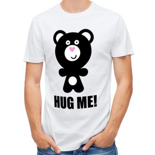 Мужская футболка полусинтетическая  Фото 01, Hug me