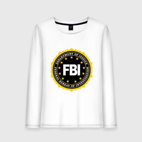 Женский лонгслив хлопок  Фото 01, FBI