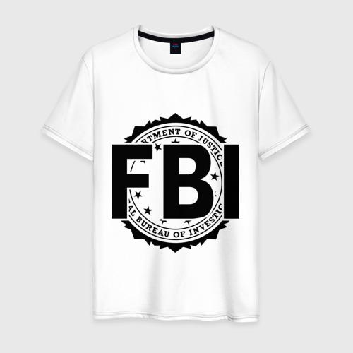 Мужская футболка хлопок FBI LOGO