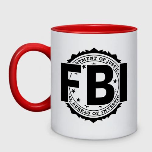 Кружка двухцветная FBI LOGO