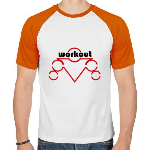 Мужская футболка реглан  Фото 01, workout RED