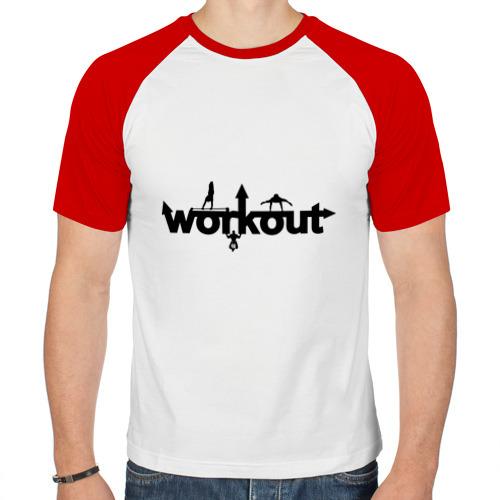 Мужская футболка реглан  Фото 01, WorkOut GYM