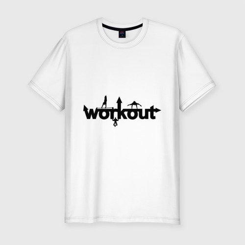 Мужская футболка премиум  Фото 01, WorkOut GYM