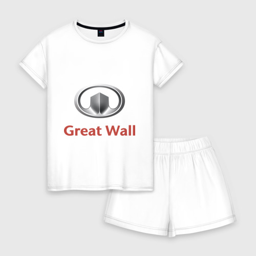 Женская пижама с шортиками хлопок Great Wall logo Фото 01