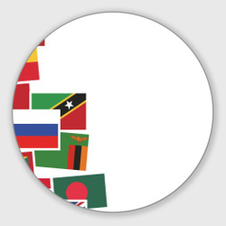 Flag sticker bombing