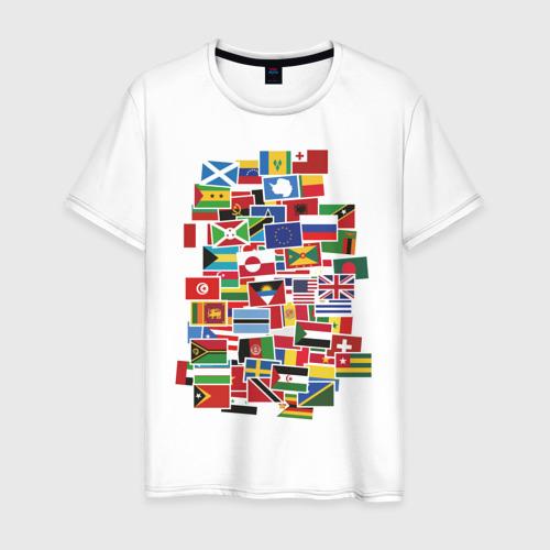Мужская футболка хлопок Flag sticker bombing