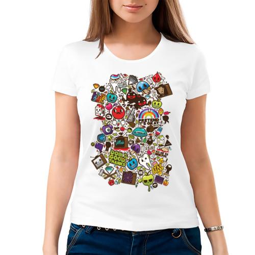 Женская футболка хлопок  Фото 03, Pattern
