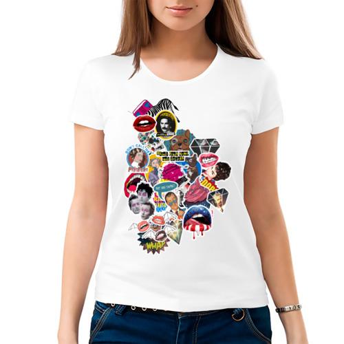 Женская футболка хлопок  Фото 03, Sticker bombing