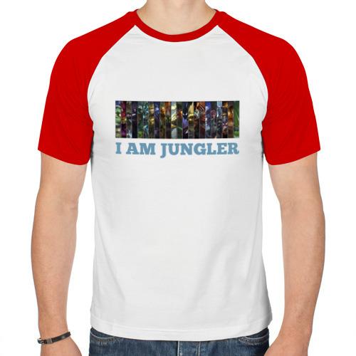 Мужская футболка реглан  Фото 01, I am jungler