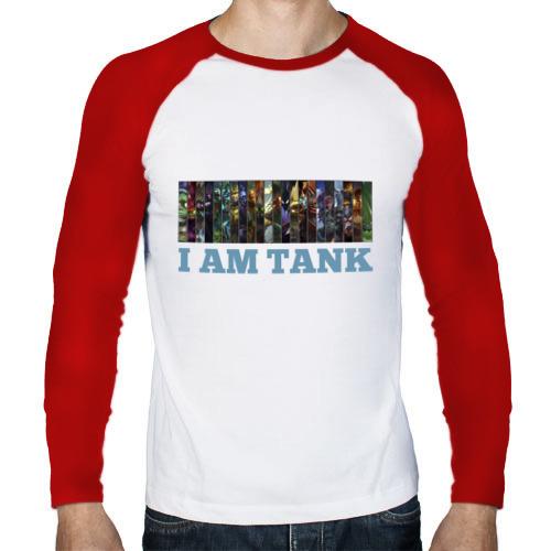 Мужской лонгслив реглан  Фото 01, I am tank