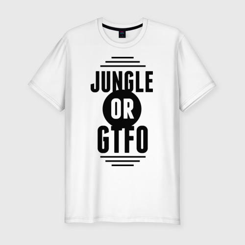 Мужская футболка премиум  Фото 01, Jungle or GTFO