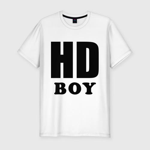 Мужская футболка премиум  Фото 01, Парень высокого качества