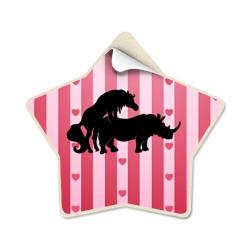 Конь и носорог