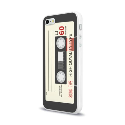 Чехол для Apple iPhone 5/5S силиконовый глянцевый 'Кассета'