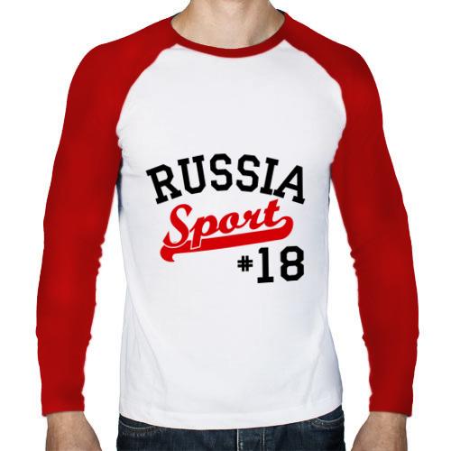 Мужской лонгслив реглан  Фото 01, Russia sport