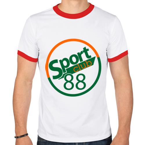 Мужская футболка рингер  Фото 01, Sport club