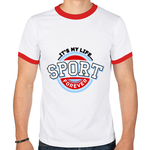 Мужская футболка рингер  Фото 01, Sport forever
