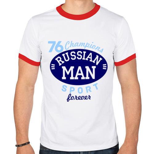Мужская футболка рингер  Фото 01, Russian man