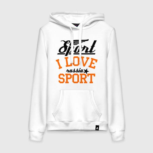 Женская толстовка хлопок  Фото 01, I love sport