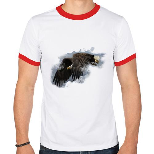 Мужская футболка рингер  Фото 01, Орел в небе