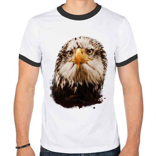 Мужская футболка рингер  Фото 01, Орел