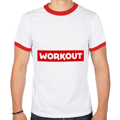 Мужская футболка рингер  Фото 01, Obey workout