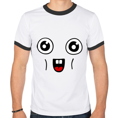 Мужская футболка рингер  Фото 01, Няш-лицо