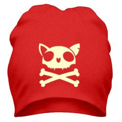Кошачий пиратский флаг(свет)