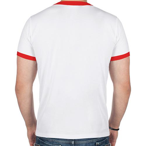 Мужская футболка рингер  Фото 02, кошачий пиратскй флаг