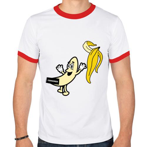 Мужская футболка рингер  Фото 01, Голый банан