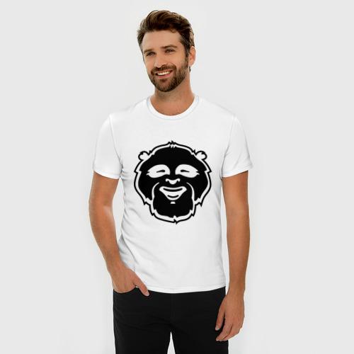 Мужская футболка премиум  Фото 03, Веселая панда