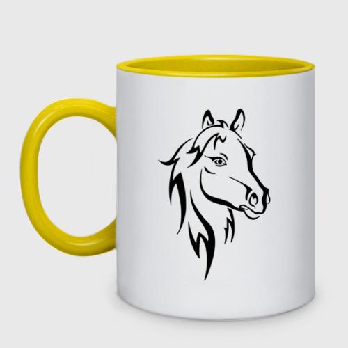 Кружка двухцветная Horse One фото