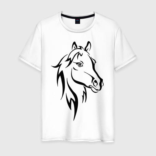 Мужская футболка хлопок Horse Фото 01