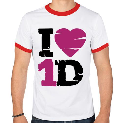 Мужская футболка рингер  Фото 01, I love 1 Direction