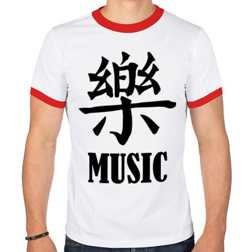 Мужская футболка рингер  Фото 01, Music (иероглиф)