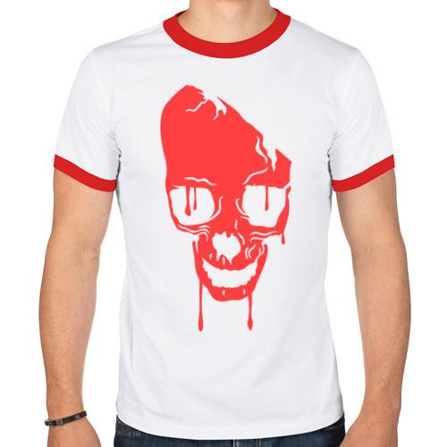 Мужская футболка рингер  Фото 01, Череп краской