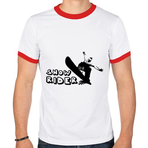 Мужская футболка рингер  Фото 01, Snow Rider
