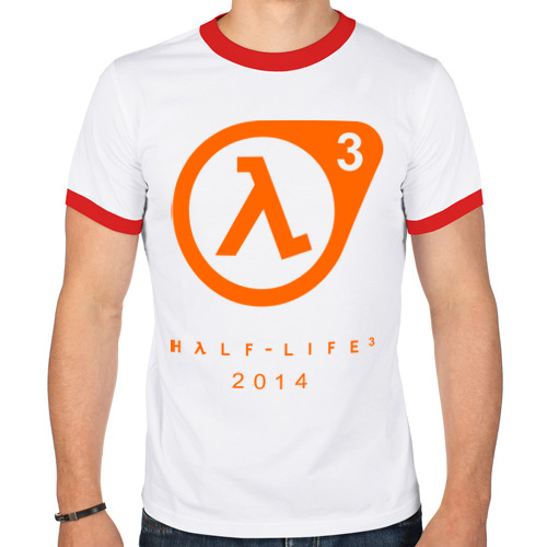 Мужская футболка рингер  Фото 01, Half - life 3