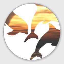 Дельфины на закате (2)